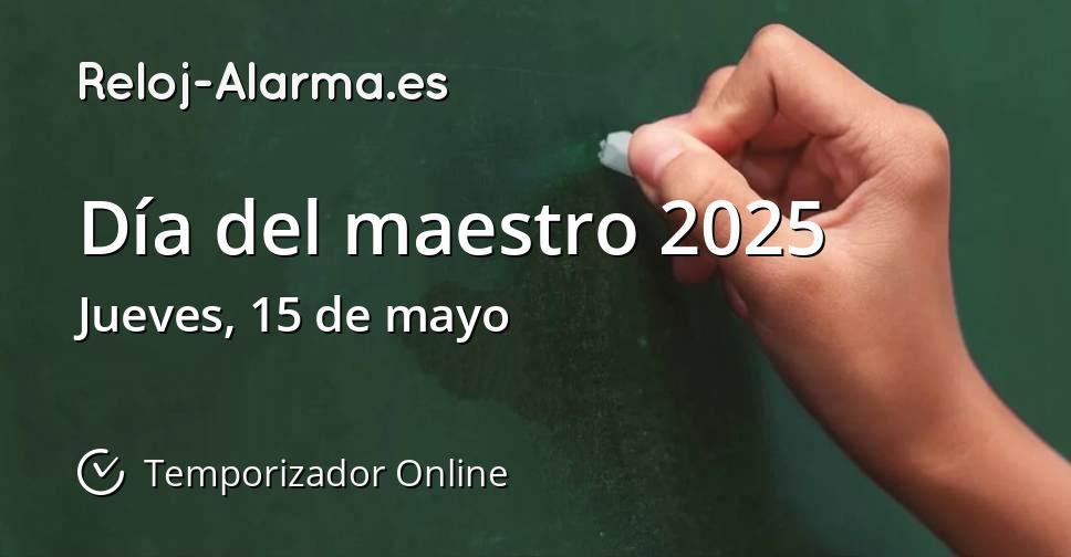 Día del maestro 2025