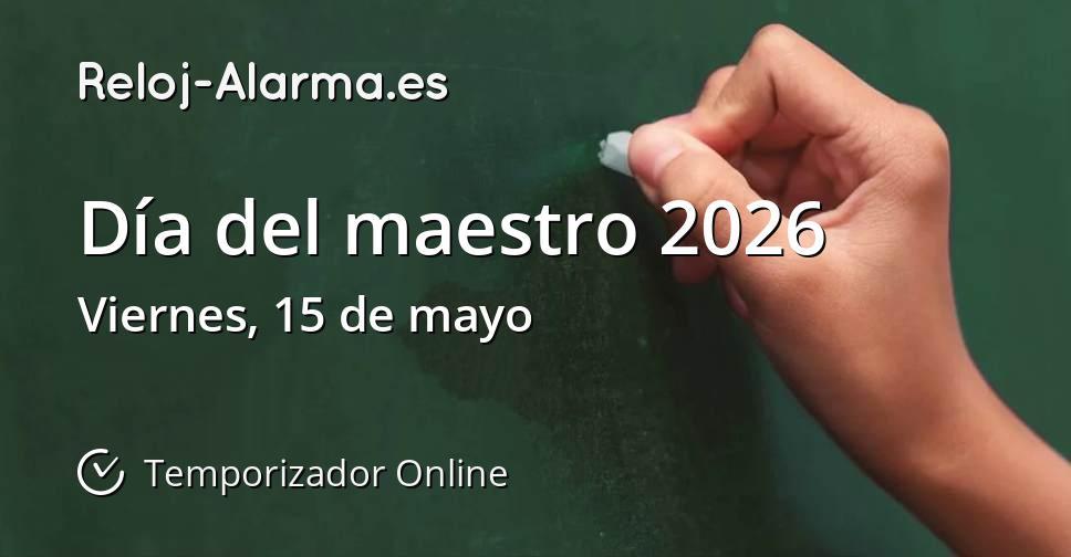 Día del maestro 2026
