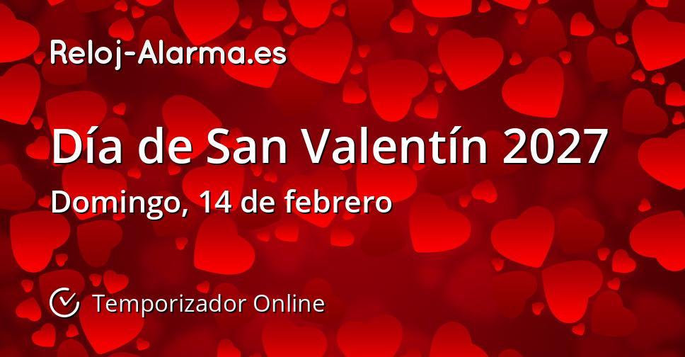 Día de San Valentín 2027