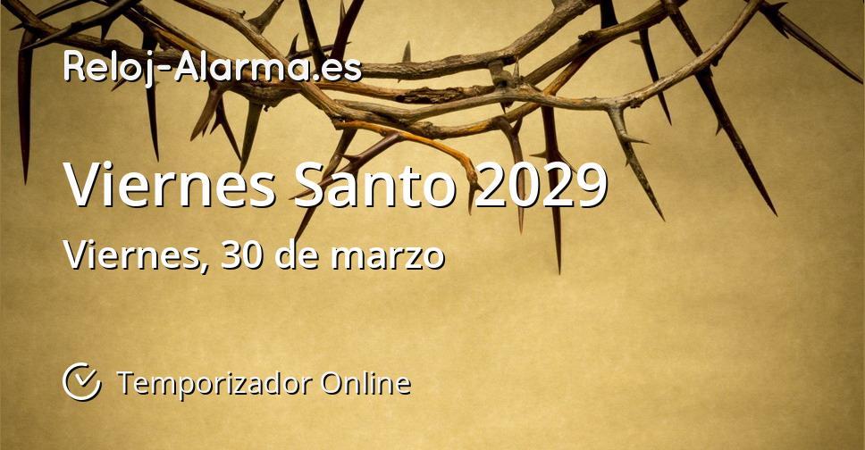 Viernes Santo 2029